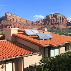 Solar Domestic Hot Water System - Sedona, AZ, USA