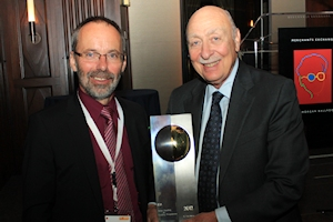 2012 SHC Solar Award recipient Fred Morse and Werner Weiss, SHC Programme Chair