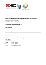 Presentation of System Performance Calculation Educational Material