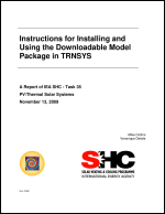Instructions for Installing and Using the Downloadable Model Package in TRNSYS