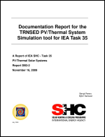 Report on the TRYNSYS/TRNSED Simulation Tool