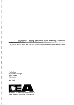 Dynamic Testing of Active Solar Heating Systems Summary