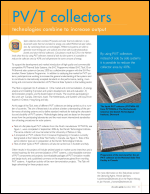 PV/T Collectors: Technologies Combine to Increase Output