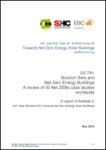 Solution Sets and Net Zero Energy Buildings: A review of 30 Net ZEBs case studies worldwide
