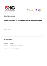 Final report on State of the art on new collectors & characterization for solar cooling