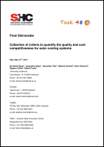 Collection of criteria to quantify the quality and cost competitiveness for solar cooling systems