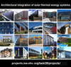 Architectural integration of solar thermal energy systems