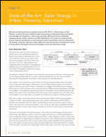 State-of-the-Art: Solar Energy in Urban Planning Education
