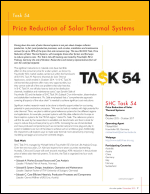 Task 54: Price Reduction of Solar Thermal Systems