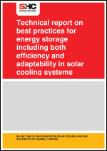 Technical report on best practices for energy storage including both efficiency and adaptability in solar cooling systems