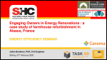 Engaging Owners in Energy Renovations: a case study of farmhouse refurbishment in Alsace, France