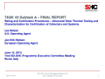 Subtask A: Final Report Presentation to ExCo June 14, 2013