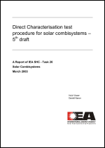 Direct Characterisation Test Procedure for Solar Combisystems - 5th Draft