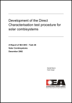 Development of the Direct Characterisation Test Procedure for Solar Combisystems