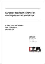 European Test Facilities for Solar Combisystems and Heat Stores