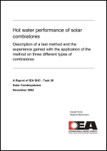 Hot Water Performance of Solar Combistores