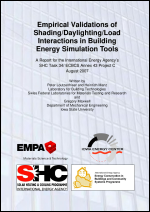 Empirical Validations of Shading/Daylighting/Load Interactions in Building Energy Simulation Tools